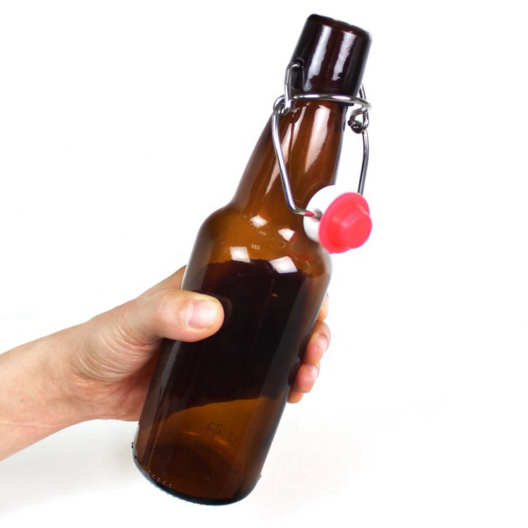 China 330ml 12 oz Home Brewing Amber Glass Beer Bottles with