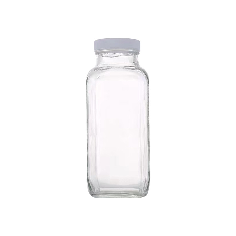 french sqaure bottle with plastic bottle